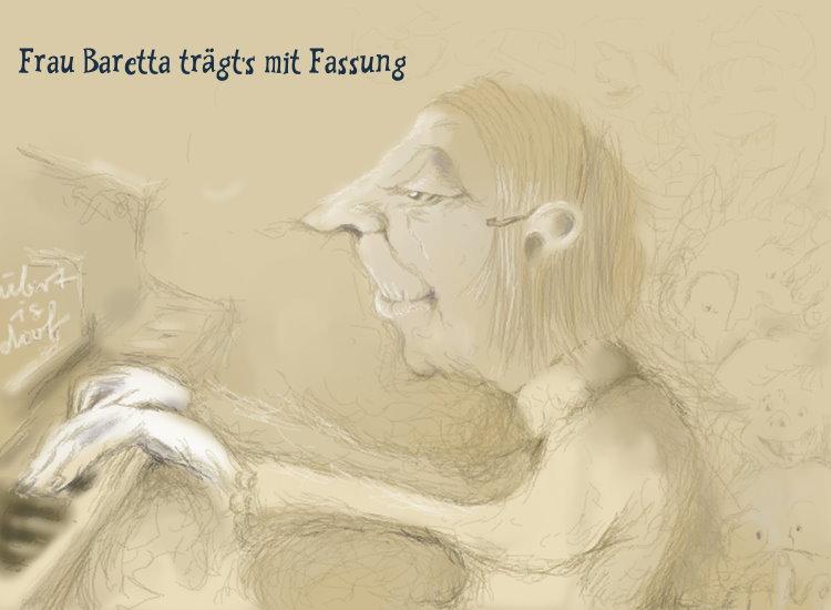 LehrerInnenkalender - Frau Baretta trägts mit Fassung