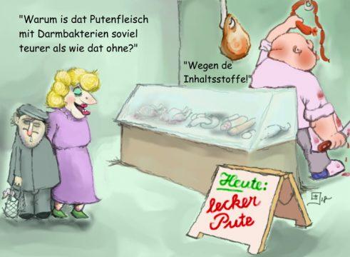 Karikatur Metzgerei