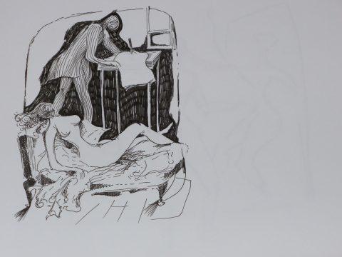 Die Muse küsst ... mit dem Messer ritze ich Zeichen deiner Anwesenheit aufs Papier