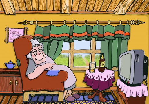 Granny Buchannon vor dem TV